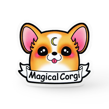 Magical Corgi Lapel Pin