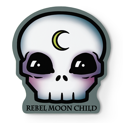 Rebel Moon Child Skull Sticker