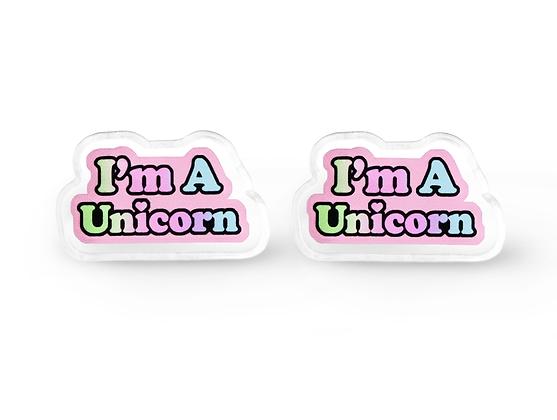 Pastel Unicorn Earrings, Pastel Grunge Jewelry