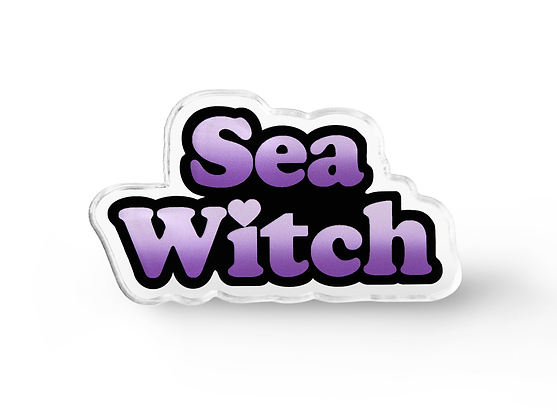 Sea Witch Pin - Pastel Goth Accessories, Grunge Pin