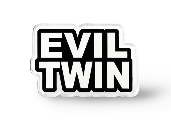Evil Twin Word Pin