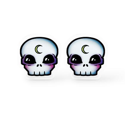 Rebel Moon Child Skull Earrings