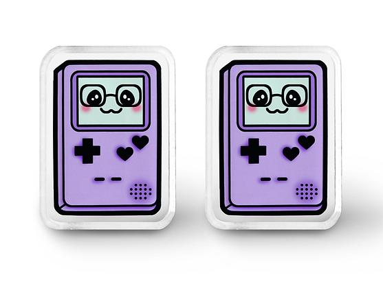 Purple Gamer Cutie Earrings - Pastel Grunge, Kawaii Jewelry