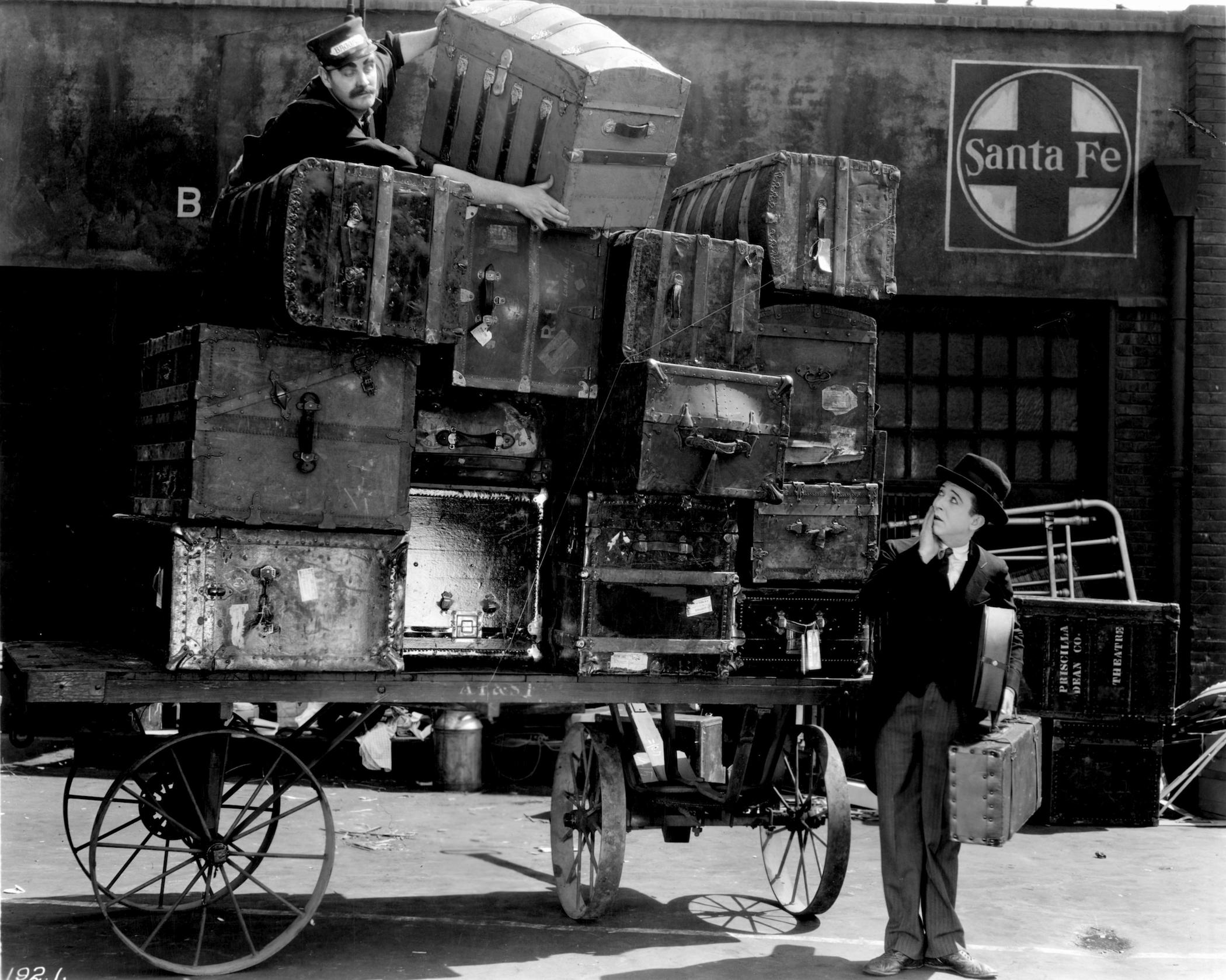 Baggage Scene - La Grande