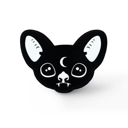 Mystic Bat Pin - Style 2 Solid Black Acrylic