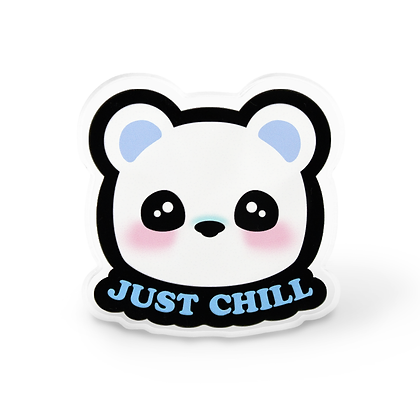 Chill Polar Bear Pin