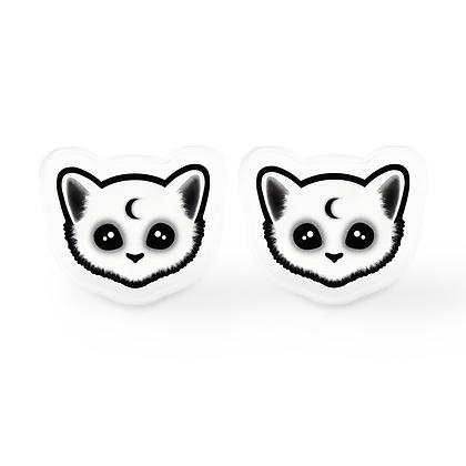 Dark Kitty Earrings