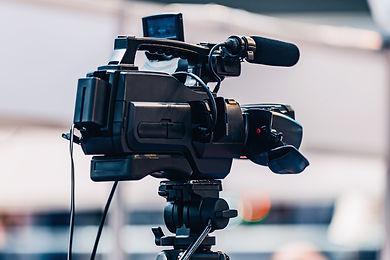 camera-recording-at-media-event-36AMJ2X.