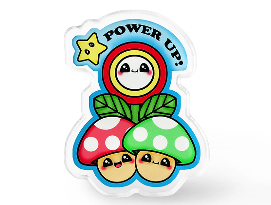 Power Up Video Game Pin