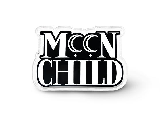 Moon Child Pin - Pastel Goth Accessories, Grunge Pin