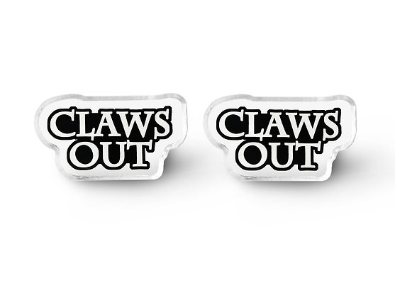 Claws Out Word Earrings