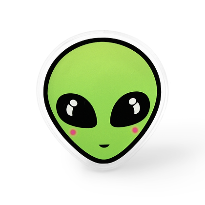 Green Alien Pin