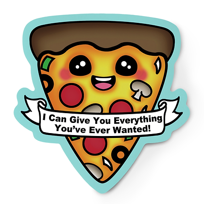 Pizza With Everything Sticker