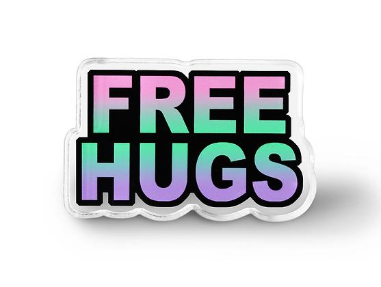 Free Hugs Pin - Pastel Grunge Accessories, Hipster Pin