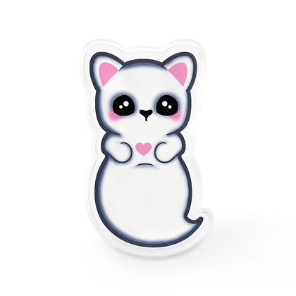 Kawaii Ghost Cat Lapel Pin