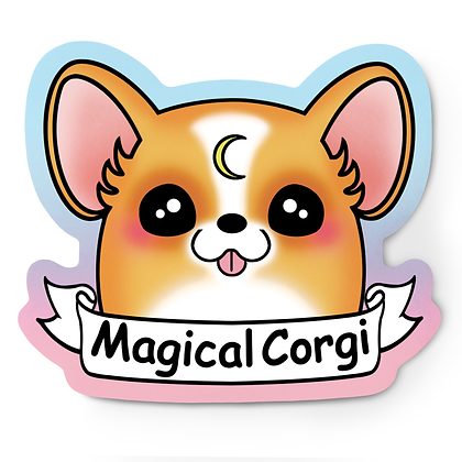 Magical Corgi Sticker