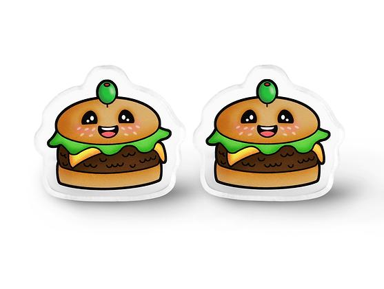 Super Happy Burger Earrings