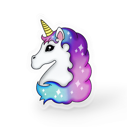 Light Unicorn Pin