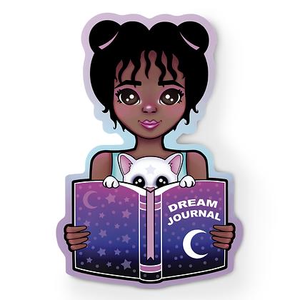Dream Journal Girl Sticker