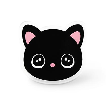 Kawaii Black Cat Pin