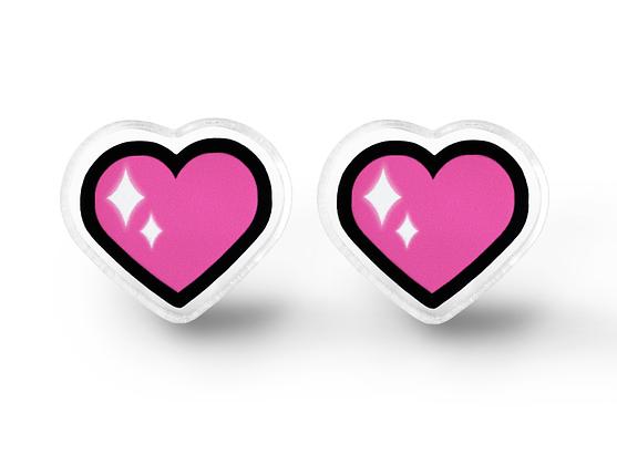 Magical Heart Earrings - Soft Grunge Accessories