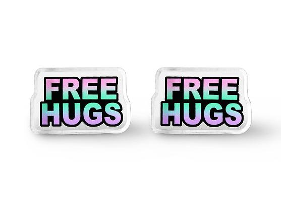 Free Hugs Word Earrings - Pastel Grunge Jewelry