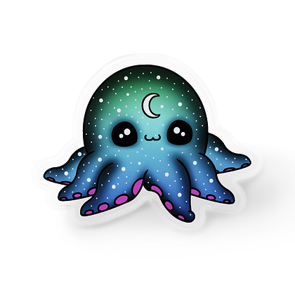 Galactic Octopus Pin