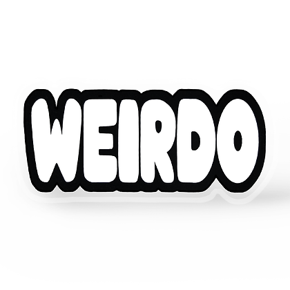 Weirdo Word Pin