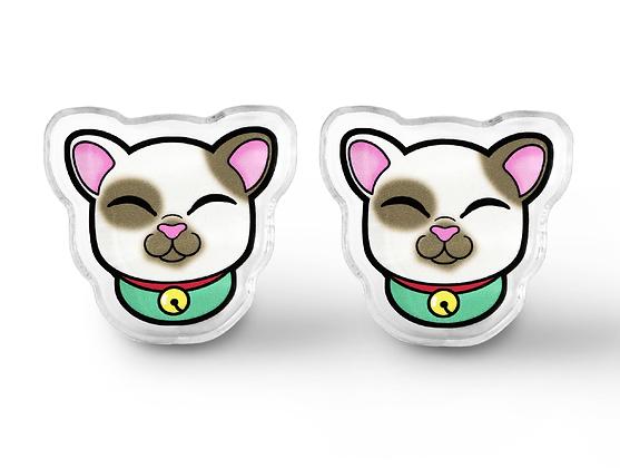 Kawaii Lucky Cat Earrings