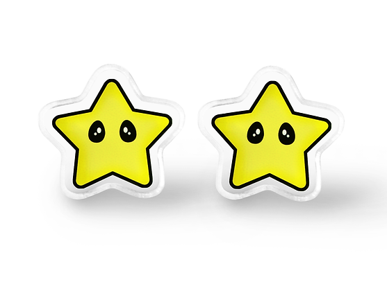 Invincibility Star Earrings - Video Game Jewelry