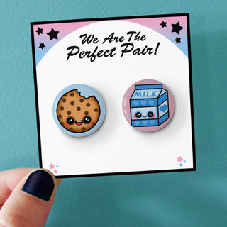 Cookie and Milk BFF Pinback Pins 2.png