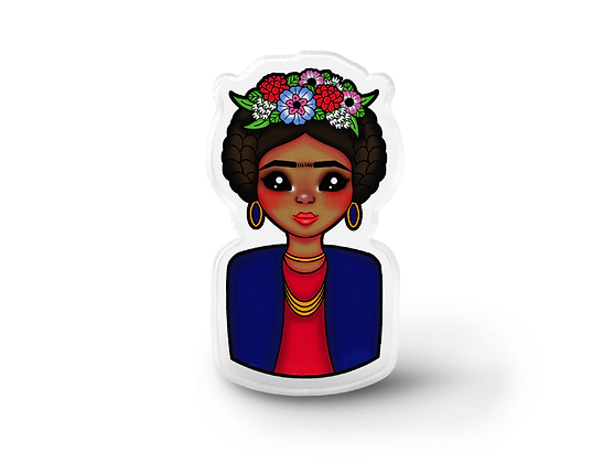 frida kahlo lapel pin, fan art lapel pin