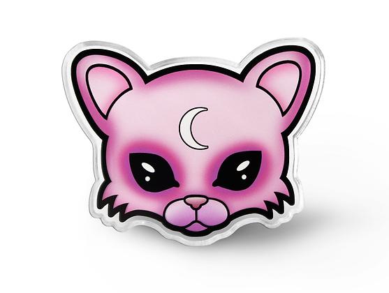 Pastel Goth Cat Pin