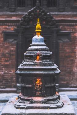 small stupa in Patan, Nepal