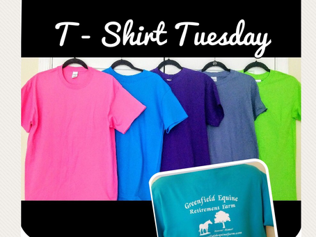 Give away T-shirt Tuesday is Coming!