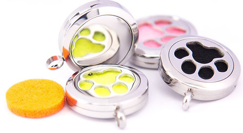 Pet Pendant Diffuser Stainless Steel & Wrap Band