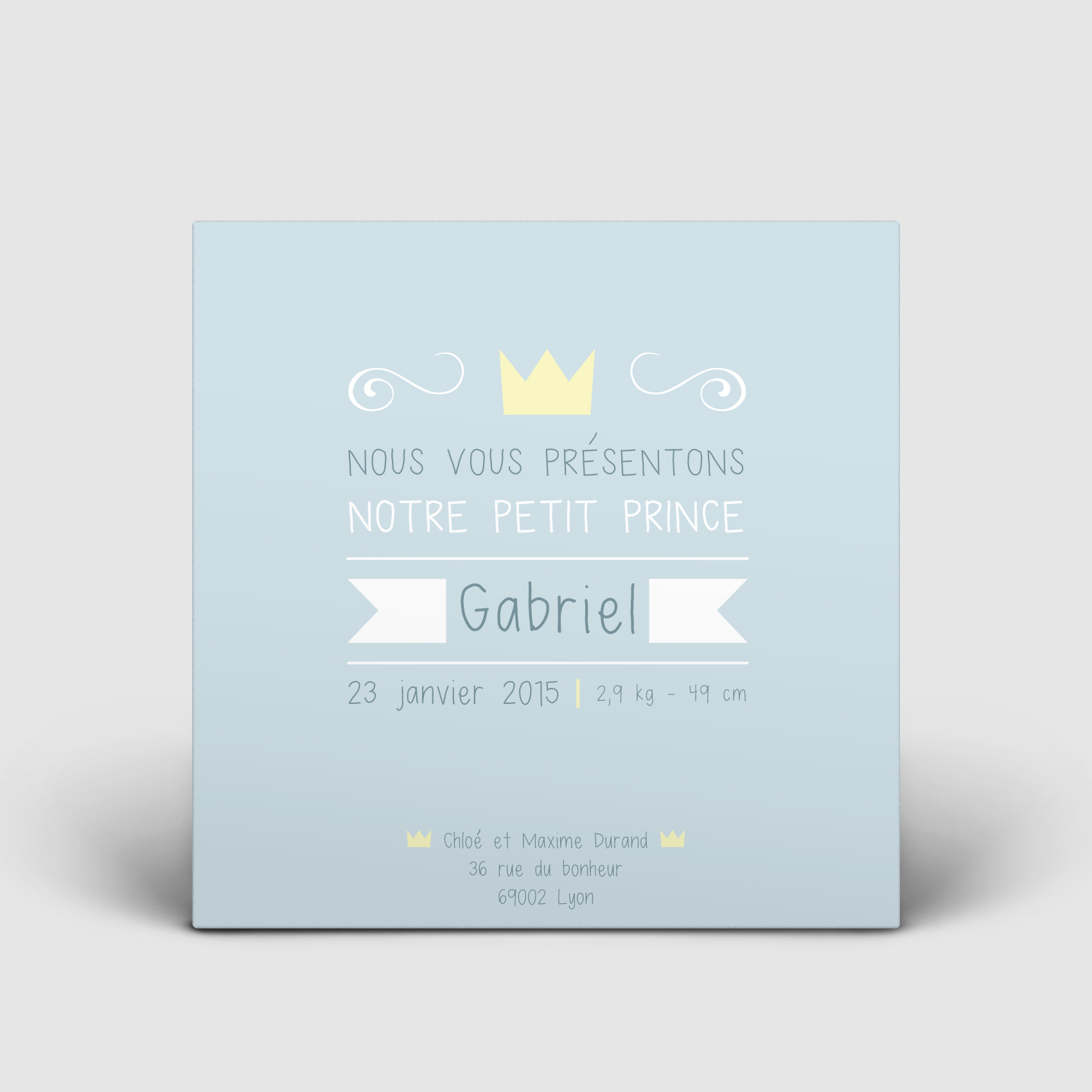 FAIRE-PART NAISSANCE | COURONNES