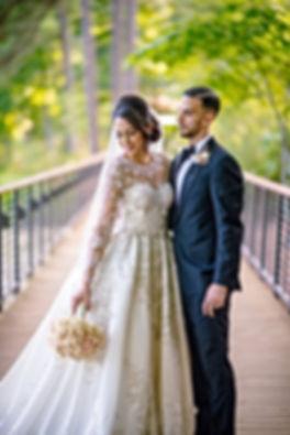 daiana with bouquet.jpg prestonswoods country club egytian wedding hindu ceremony cary nc wedding planner