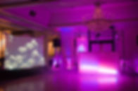 wedding dj setup with lighting