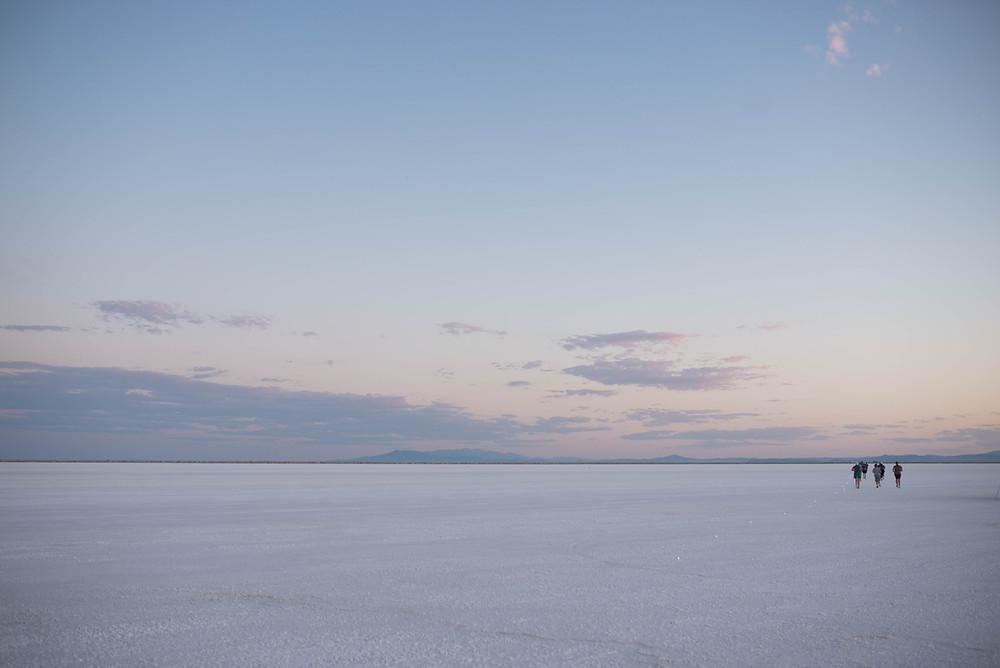 Bonneville Salt Flats sunset dusk to dawn relay race