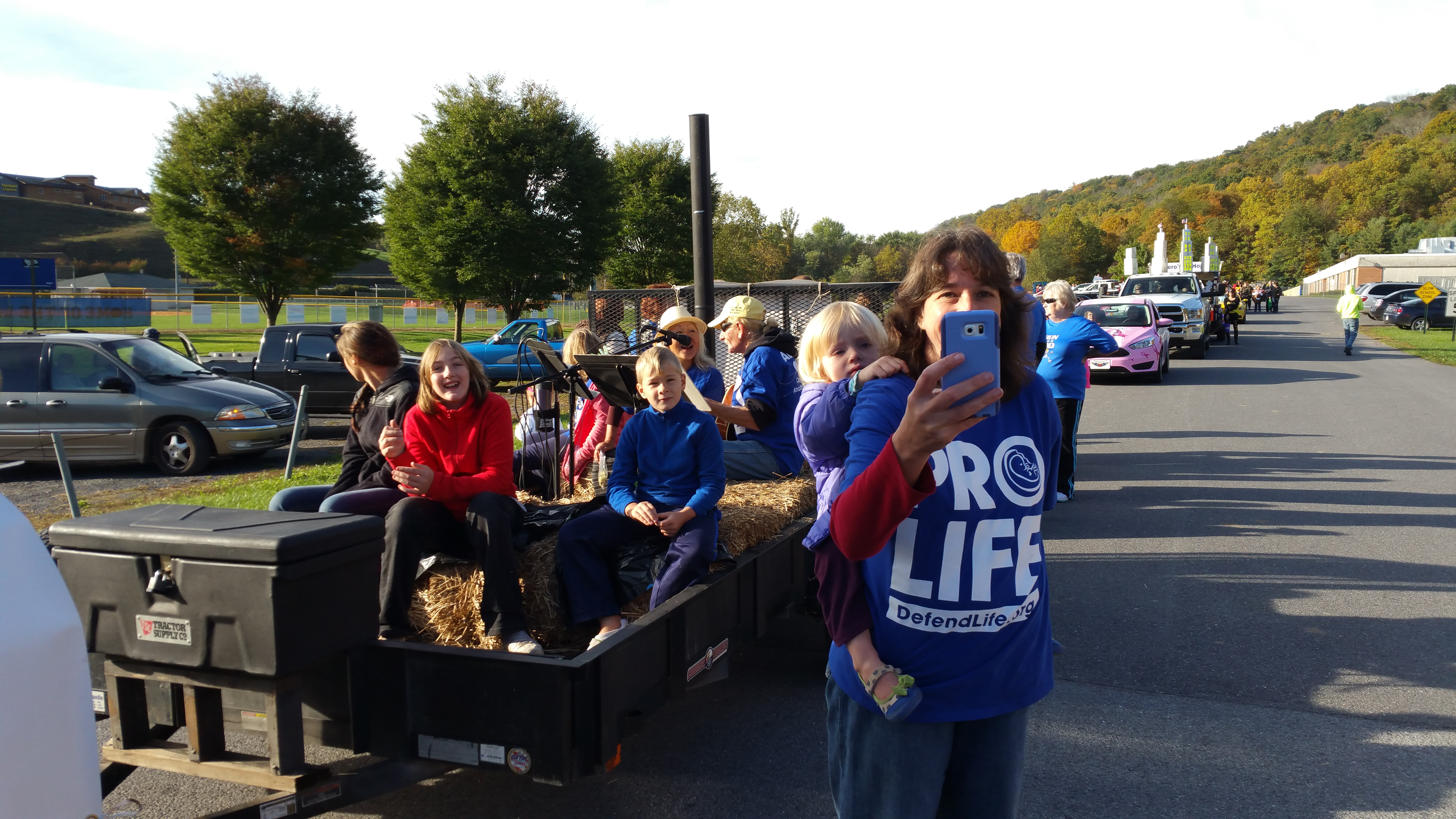 Berkeley Springs WV 12191 Pro Life Float State Warden Mike Stanger and District Deputy Tom Eades (6)