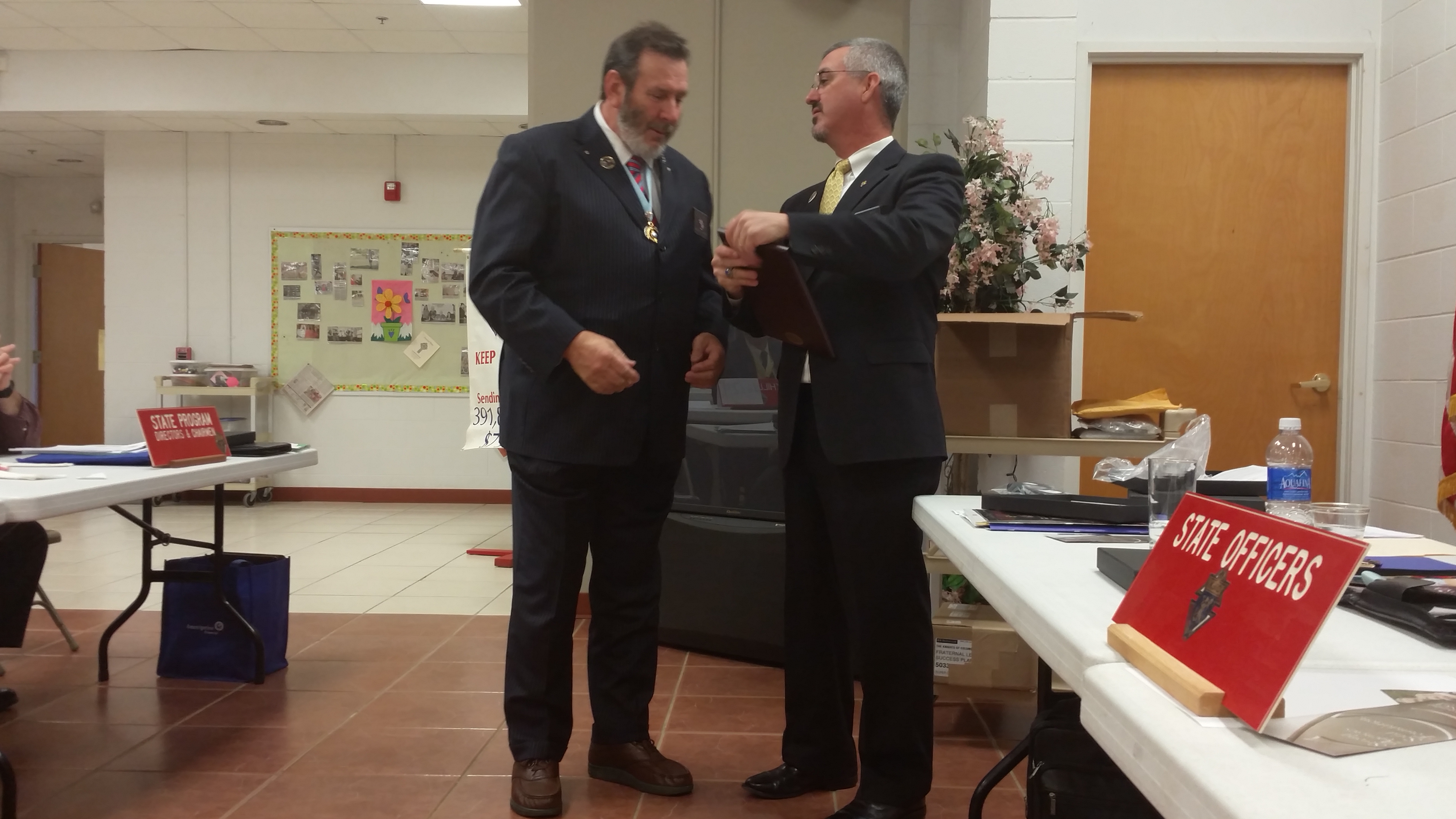 State Warden Mike Stanger  2015 WV Knights of Columbus 12191 Star Council Award