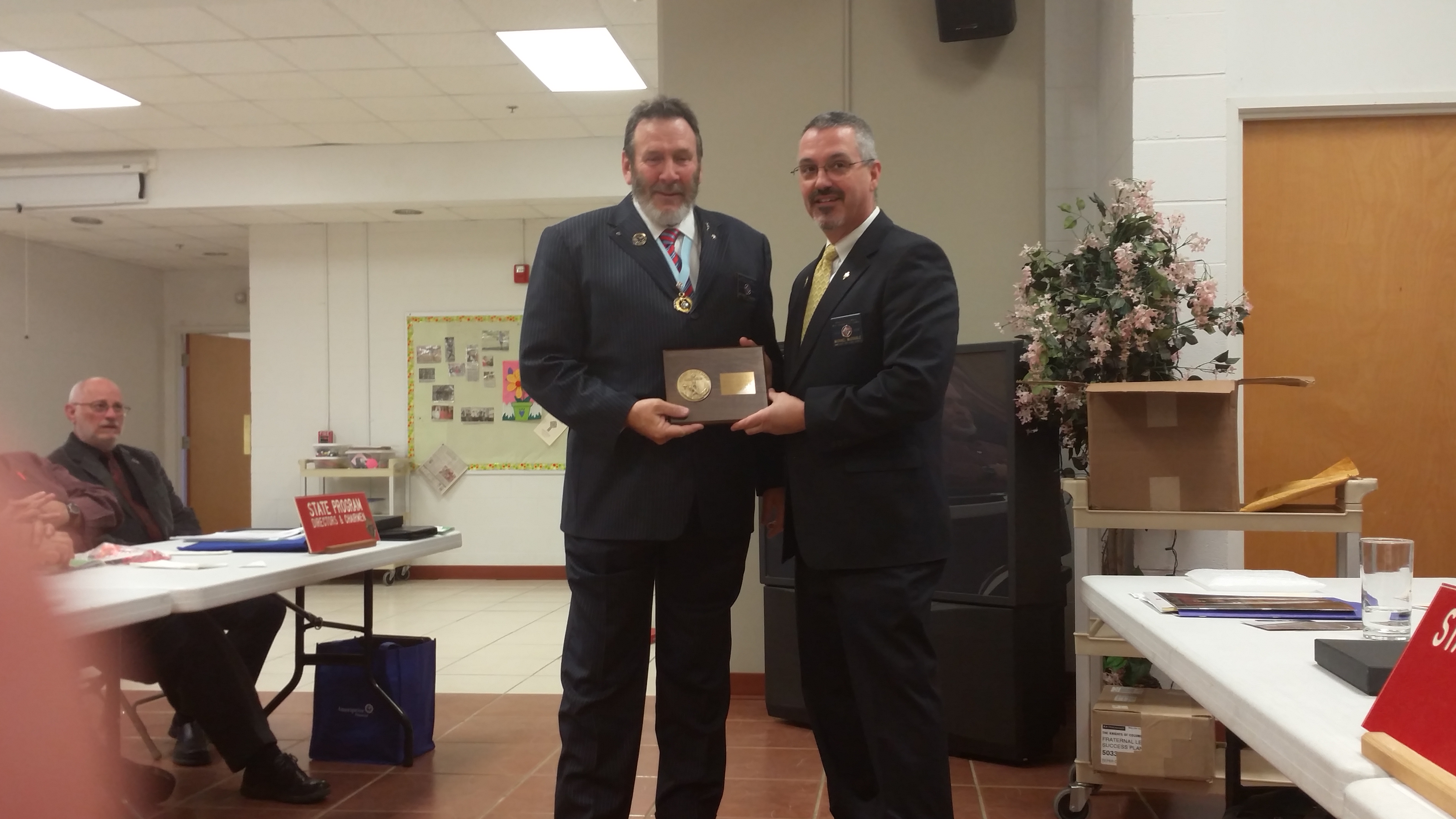 State Warden Mike Stanger  2015 WV Knights of Columbus District 6 Star District Award Presentation (