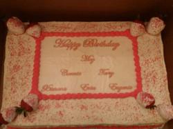monthly birthday cake