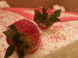 strawberry office cake