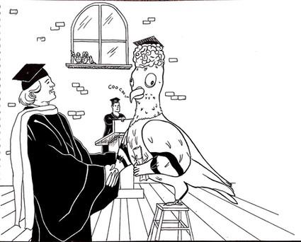 """Idiom Illustration - """"Bird Brain"""""""