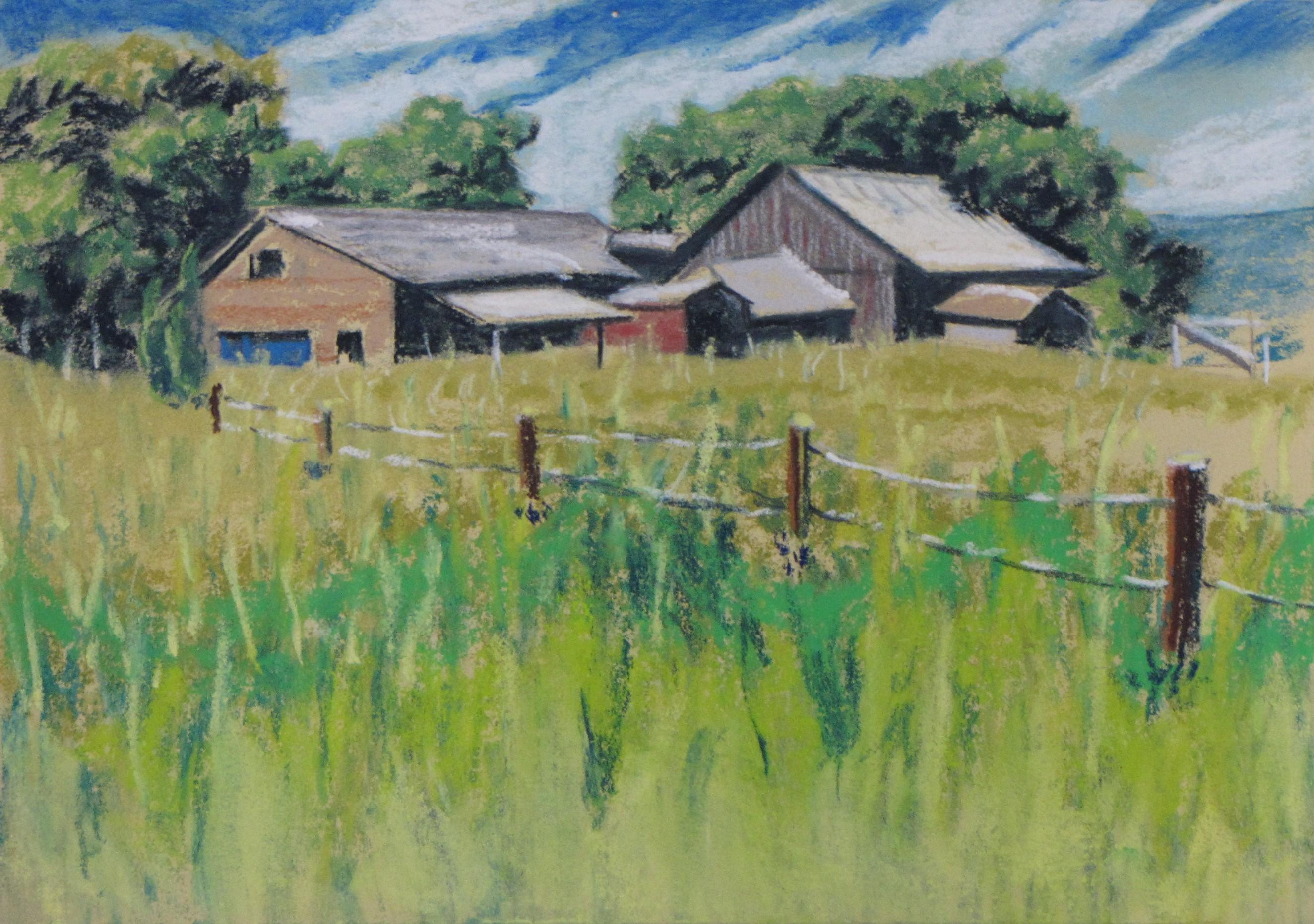 Farm with Blue Door