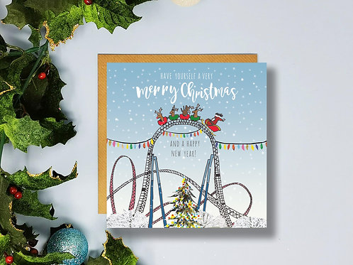 Rollercoaster Christmas Card