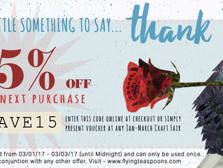 15% off your order with code SAVE15 whoop!