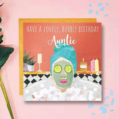 Bubbly Birthday Auntie